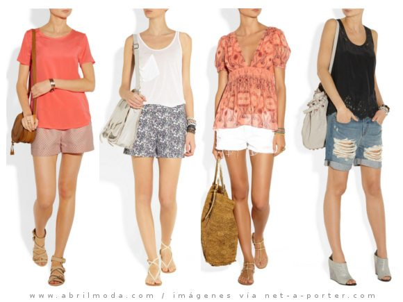 Vestir a la moda en das calurosos. Looks con &quot;shorts&quot;...